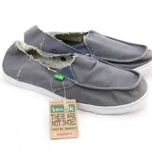 Sanuk Shoes - Sanuk Sidewalk Surfers Cabrio Slate Slip On Shoes